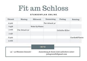 Fit am Schloss Online Kurse